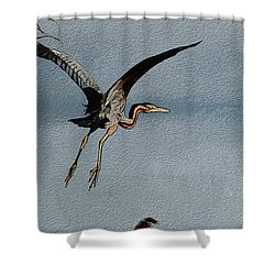 The Purple Heron Shower Curtain