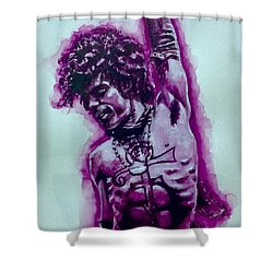The Purple Prince   Shower Curtain by Darryl Matthews