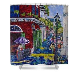 The Purple Umbrella        Pirates Alley Shower Curtain