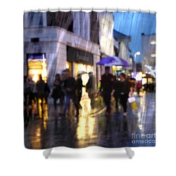 Shower Curtain featuring the photograph The Purple Umbrella by LemonArt Photography