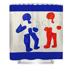 The Puzzles People  Shower Curtain