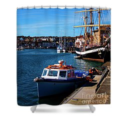 The Quayside  Shower Curtain