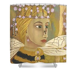 The Queen Bee's Honeycomb Shower Curtain