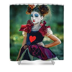 Shower Curtain featuring the photograph The Queen Of Hearts Alice In Wonderland by Dimitar Hristov