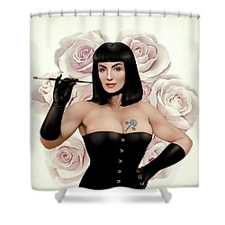 The Queen Of Vintage Roses Shower Curtain