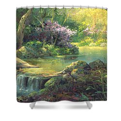 The Quiet Creek Shower Curtain