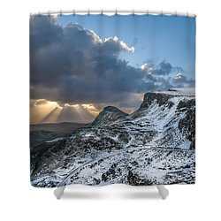 The Quiraing Just After Dawn Shower Curtain