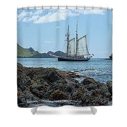 The R Tucker Thompson Shower Curtain