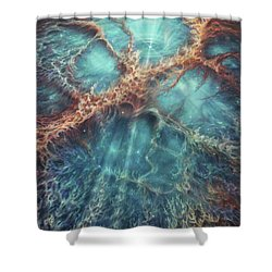 The Racing Heart Of The Crab Nebula Shower Curtain