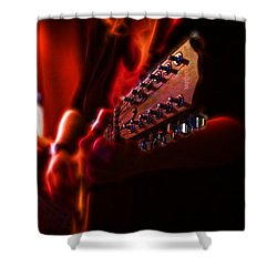 The Radiant Musicians Shower Curtain