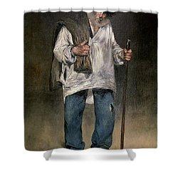 The Ragman Shower Curtain by Edouard Manet