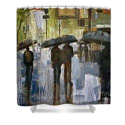 The Rain Came Shower Curtain