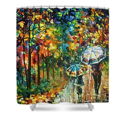 The Rain Of Childhood Shower Curtain by Leonid Afremov