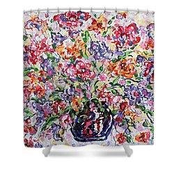 The Rainbow Flowers Shower Curtain