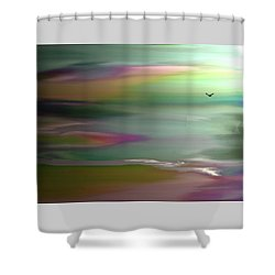 The Rainbow Pathway Shower Curtain