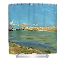 The Ramparts At Aigues Mortes Shower Curtain