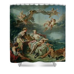 The Rape Of Europa Shower Curtain by Francois Boucher
