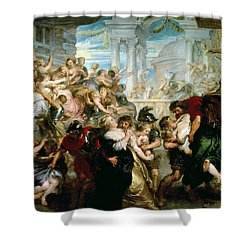 The Rape Of The Sabine Women Shower Curtain by Peter Paul Rubens