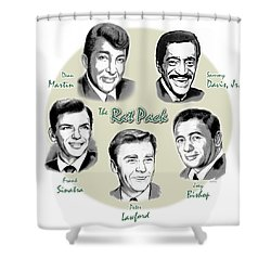 The Rat Pack Shower Curtain