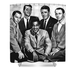 The Rat Pack Shower Curtain by Marvin Blaine