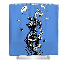The Rat Penthouse Shower Curtain