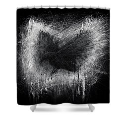 The Raven - Black Edition Shower Curtain