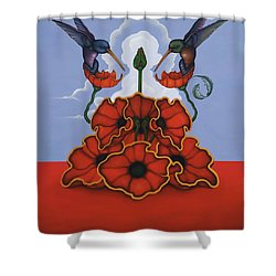 The Ravishers Shower Curtain by Andrew Batcheller