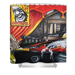 The Ray Of Georgia Unchained My Hands Shower Curtain