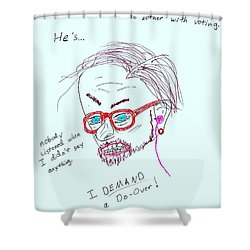 The Reactivist Shower Curtain by David S Reynolds