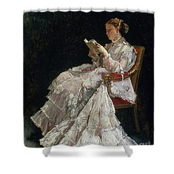 The Reader Shower Curtain by Alfred Emile Stevens