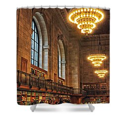 Shower Curtain featuring the photograph The Reading Room by Jessica Jenney