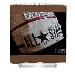 The Converse All Star Rear Label. Shower Curtain by Don Pedro De Gracia