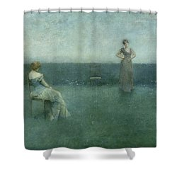 The Recitation Shower Curtain by Thomas Wilmer Dewing