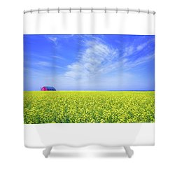 The Red Barn Shower Curtain by Keith Armstrong