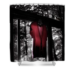 The Red Blouse Shower Curtain