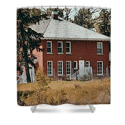 The Red Brick House Shower Curtain by Maria Angelica Maira