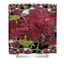 The Red Bushes Shower Curtain