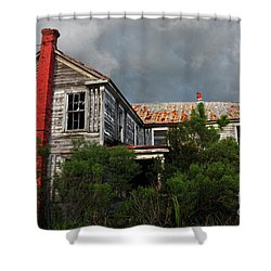 The Red Chimney Shower Curtain