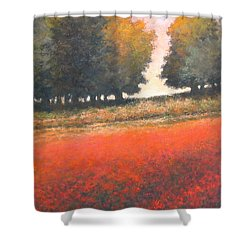The Red Field #2 Shower Curtain