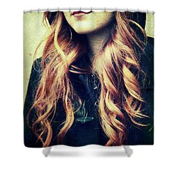The Red-haired Girl Shower Curtain
