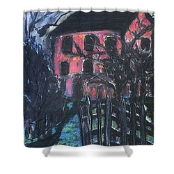 The Red House Shower Curtain
