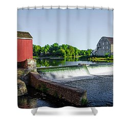 The Red Mill  On The Raritan River - Clinton New Jersey  Shower Curtain by Bill Cannon