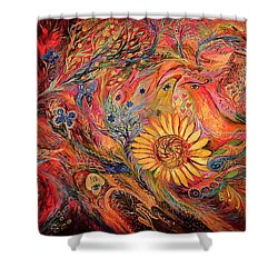 The Red Sirocco Shower Curtain by Elena Kotliarker