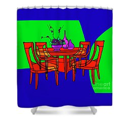 The Red Table Shower Curtain