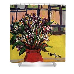 The Red Vase Shower Curtain