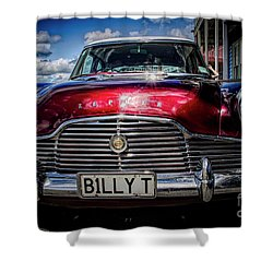 The Red Zephyr Shower Curtain