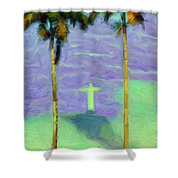 The Redeemer Shower Curtain