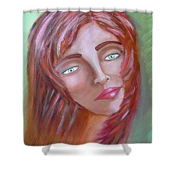 The Redhead Shower Curtain