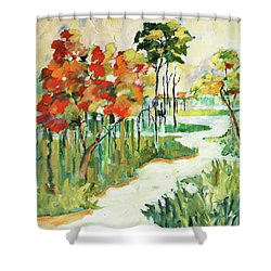 The Redlands2 Shower Curtain