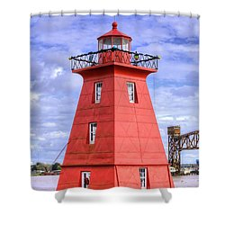 Shower Curtain featuring the photograph The Reef Lighthouse by JC Findley